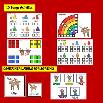 FINE MOTOR: Reindeer Fine Motor Warmups for Centers or Therapy