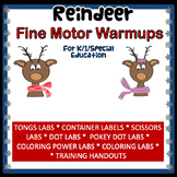 FINE MOTOR Reindeer Fine Motor Warmups for Centers or Therapy
