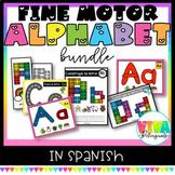 FINE MOTOR! SPANISH ALPHABET MATS growing bundle