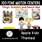 100 Apple Fine Motor Centers for Pre-k - Kindergarten