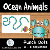 FINE MOTOR:  Sea Animal Themed CUED a - z Punch Dots for C