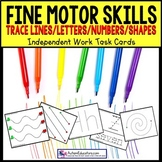 FINE MOTOR | Tracing Task Cards for Autism and Special Education Task Box Filler