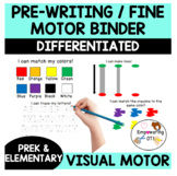 FINE MOTOR binder: matching shapes + colors, pre-writing strokes, alphabet