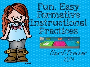 FIP: Easy, Fun Formative Instructional Editable set