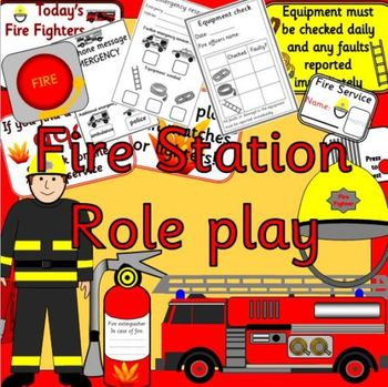 FIRE FIGHTER role play pack- dramatic play, fire station
