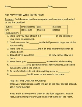 FIRE PREVENTION WEEK ACTIVITY