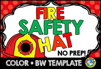 Fire Safety Craft Kindergarten Activity Preschool 1st Grade
