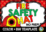 FIRE SAFETY ACTIVITY (FIREFIGHTER HAT CRAFT)
