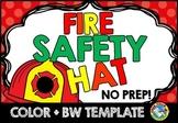 FIRE SAFETY CRAFT KINDERGARTEN ACTIVITY (PRESCHOOL, 1ST GRADE FIREFIGHTER HAT)