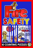 FIRE SAFETY ACTIVITIES FIRST GRADE, KINDERGARTEN (COUNT TO 100 CENTER PUZZLES)