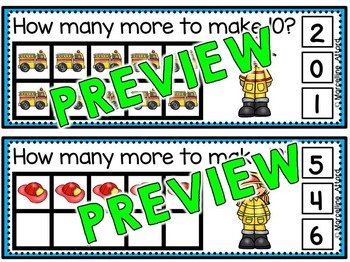 FIRE SAFETY ACTIVITIES: MAKING 10 CLIP CARDS: FIRE SAFETY MATH CENTER