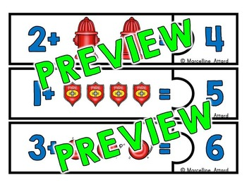 FIRE SAFETY ACTIVITIES: FIRE SAFETY MATH CENTER:ADDITION BY COUNTING ON STRATEGY