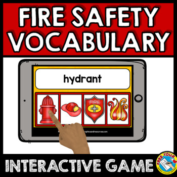 FIRE SAFETY ACTIVITIES FIRST GRADE, KINDERGARTEN (VOCABULARY CARDS FOR READING)