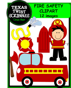 FIRE SAFETY CLIP ART with black and white versions