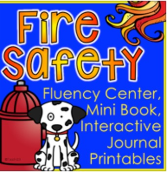 FIRE SAFETY Mini Book Fluency Center Interactive Printables