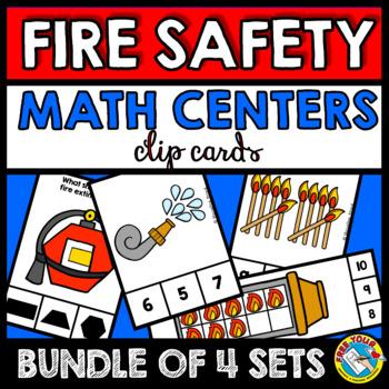 FIRE SAFETY KINDERGARTEN MATH CENTERS BUNDLE (FIRE PREVENTION WEEK PRESCHOOL)