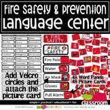 FIRE SAFETY LANGUAGE CENTER PLUS WORD WALL#DistanceLearningTpT