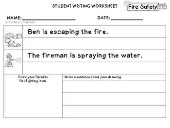 FIRE SAFETY Language Development Lessons for Young Language Learners