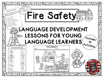 FIRE SAFETY Language Development Lessons for Young Languag