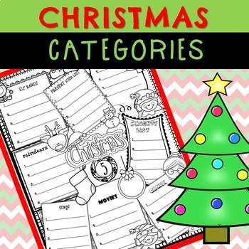 Christmas Categories Worksheet