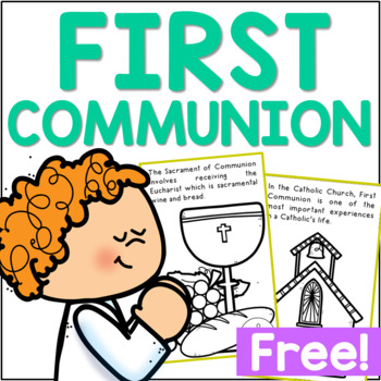 FIRST COMMUNION Mini Book | Religious Education | Catholic Activity