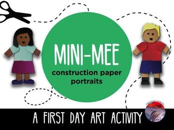 "ART ACTIVITY - ""Mini Mee"" Construction Paper Portraits"