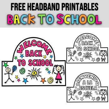 HEADBAND ★ FIRST DAY OF SCHOOL ACTIVITIES ★ BACK TO SCHOOL ACTIVITIES