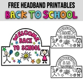 HEADBAND ★ FIRST DAY OF SCHOOL ACTIVITIES ★ BACK TO SCHOOL