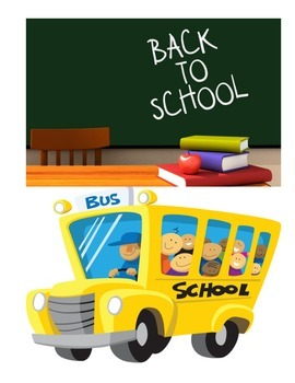 BACK TO SCHOOL ACTIVITIES (GRADES 3 - 5)