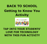 BACK TO SCHOOL: First Day of School Activity