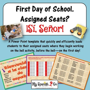 first day of school assigned seats powerpoint template