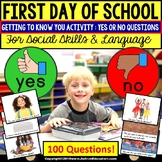 FIRST DAY OF SCHOOL Getting To Know You ACTIVITY YES or No Questions