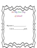 First Day of School! Interactive Book