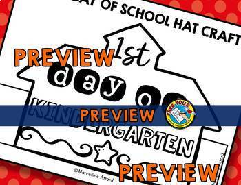 FIRST DAY OF SCHOOL KINDERGARTEN ACTIVITIES (FIRST DAY OF KINDERGARTEN CROWNS)