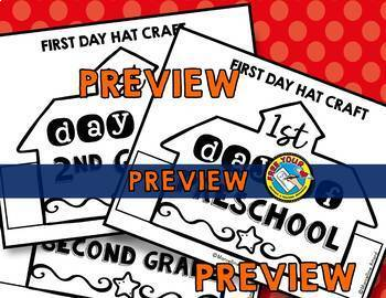 FIRST DAY OF SCHOOL ACTIVITY KINDERGARTEN (BACK TO SCHOOL CRAFT HAT OR CROWN)