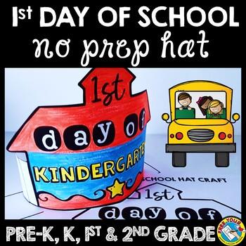FIRST DAY OF SCHOOL ACTIVITY KINDERGARTEN (BACK TO SCHOOL CRAFT HAT OR  CROWN)
