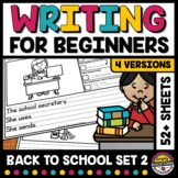 BACK TO SCHOOL & LABOR DAY PICTURE PROMPTS WRITING ACTIVIT