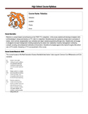 FIRST FTC Robotics Syllabus - High School