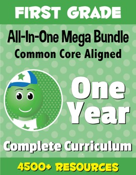 FIRST GRADE All-In-One *MEGA BUNDLE* {1 Year Complete Curriculum & CC Aligned}