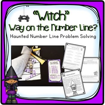 FIRST GRADE PROBLEM SOLVING UNIT WITH NUMBER LINES HALLOWE
