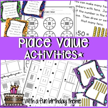 FIRST GRADE COMPLETE PLACE VALUE UNIT WITH PROBLEM SOLVING