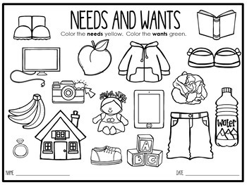 ECONOMICS FOR K-2:   NEEDS AND WANTS