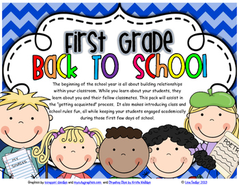 FIRST GRADE - FIRST DAYS (GETTING ACQUAINTED)