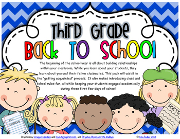 THIRD GRADE - FIRST DAYS (GETTING ACQUAINTED)