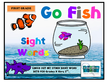 FIRST GRADE GO FISH SIGHT WORDS GAME