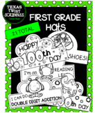 FIRST GRADE HATS, CROWNS for all school year! {Texas Twist Scribbles}