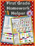 FIRST GRADE HOMEWORK HELPER editable