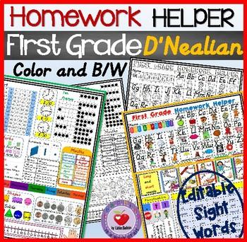 FIRST GRADE HOMEWORK HELPER- DNEALIAN