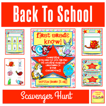 MEET THE TEACHER SCAVENGER HUNT AND BULLETIN BOARD SET