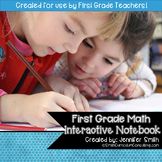 FIRST GRADE Math Interactive Notebook Bundle- Activities f
